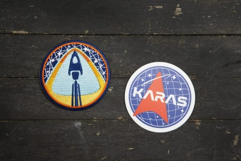 Morning Launch Mission Patch & Karas Space Agency Sticker